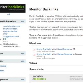 Monitor backlinks crunchbase