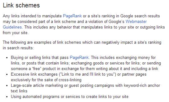 New Link schemes