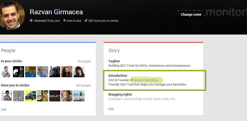 Google Plus Backlink