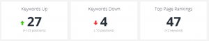 weekly keywords progress
