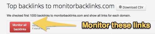 Monitor your backlinks