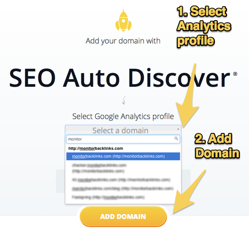 Grant access to Google Analytics on Monitor Backlinks