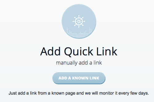 Add a manual link on Monitorbacklinks