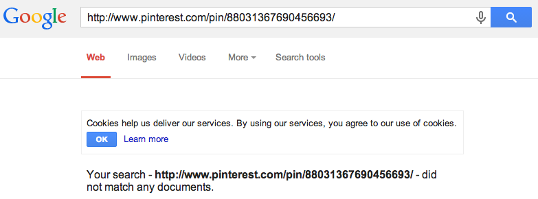 Manually check if link is indexed