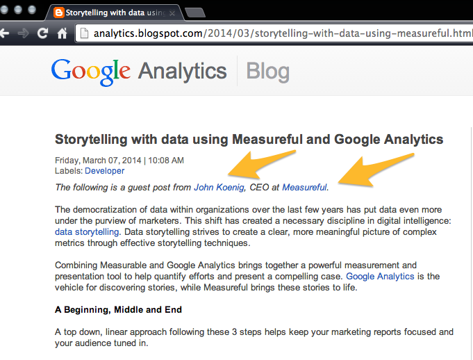 dofollow link on Google Analytics