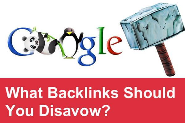 disavow backlinks