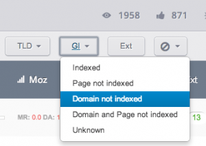 Filter domains that are not indexed