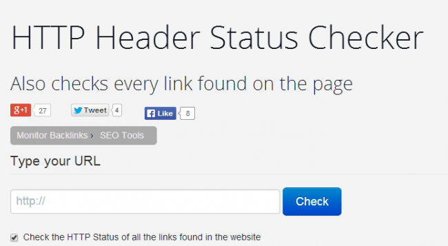 HTTP Header Status Checker