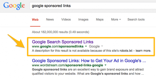 google no meta description