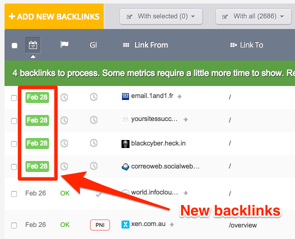 new backlinks