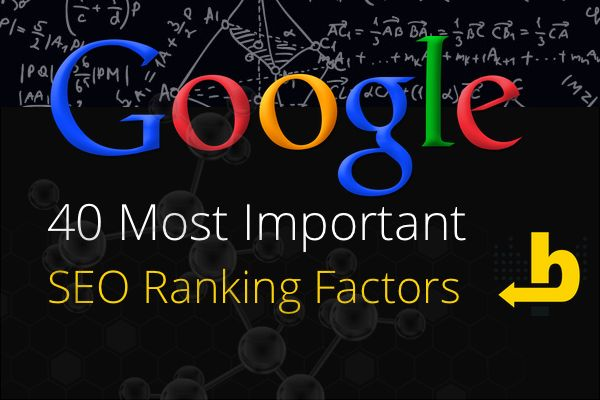 40 Most Important SEO Ranking Factors - Rank High In Google