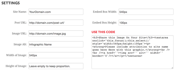 create embed code for infographic