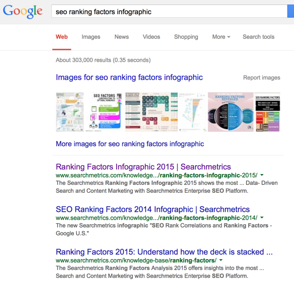search for existing infographics