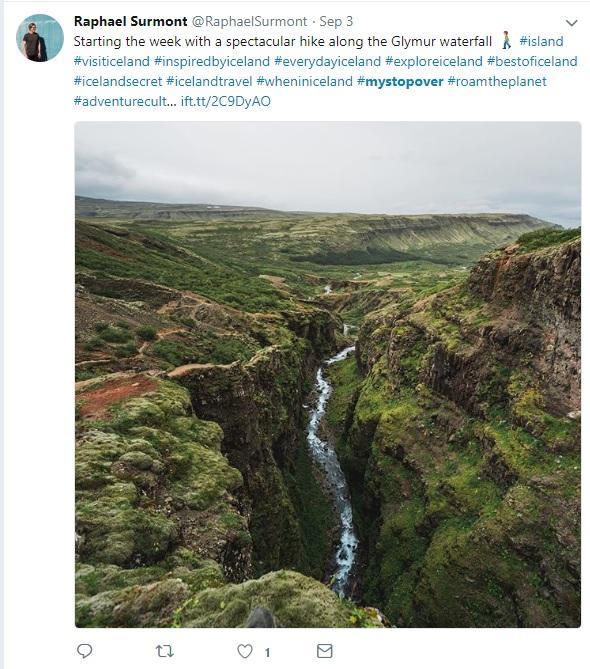 MyStopover Example on Twitter