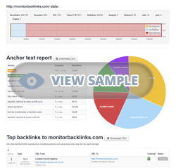 Sample Advance Backlink Report